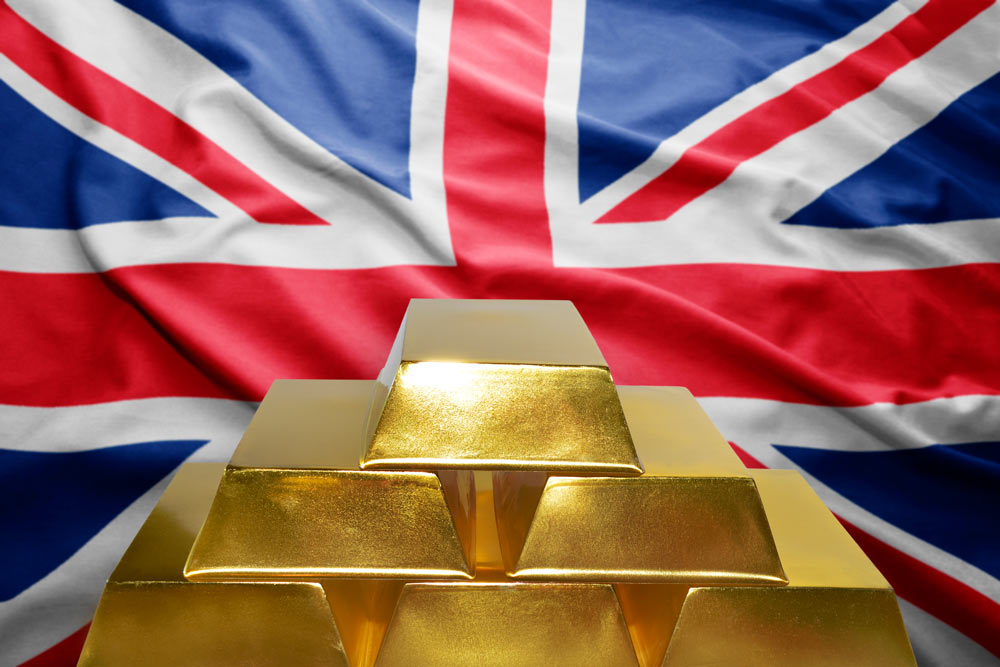 Flag and Gold Bullion